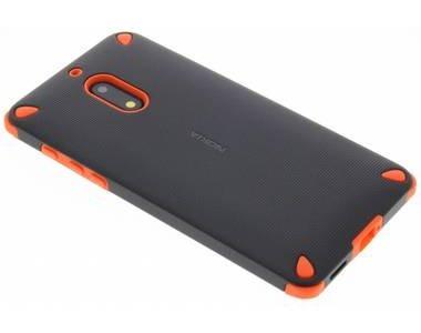 Oranje / zwarte rugged impact case voor de nokia 6 bij OfficieleHoesjes.nl