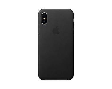 Zwarte leather case voor de iphone x bij OfficieleHoesjes.nl
