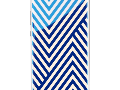 Huawei P10 Fashion Back Cover Strepen Blauw/Wit