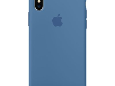 Apple iPhone X Silicone Back Cover Jeansblauw