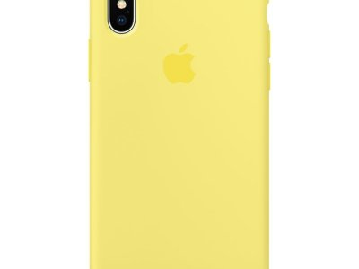 Apple iPhone X Silicone Back Cover Citroengeel