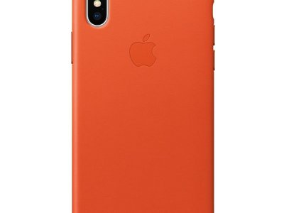 Apple iPhone X Leather Back Cover Feloranje