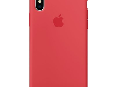 Apple iPhone X Silicone Back Cover Frambozenrood