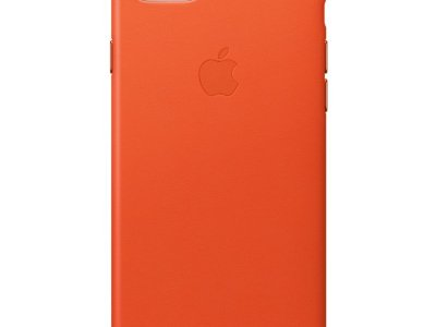 Apple iPhone 7/8 Leather Back Cover Feloranje