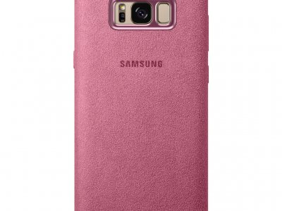 Samsung Galaxy S8 Plus Alcantara Back Cover Roze
