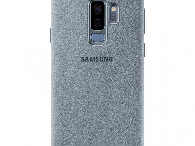Samsung Galaxy S9 Plus Alcantara Back Cover Lichtblauw