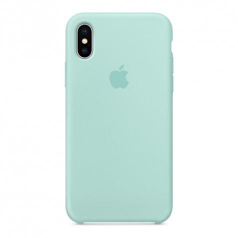 Apple iPhone X Silicone Back Cover Mintgroen