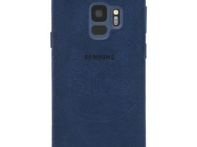 Samsung Galaxy S9 Alcantara Back Cover Blauw