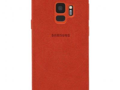 Samsung Galaxy S9 Alcantara Back Cover Rood
