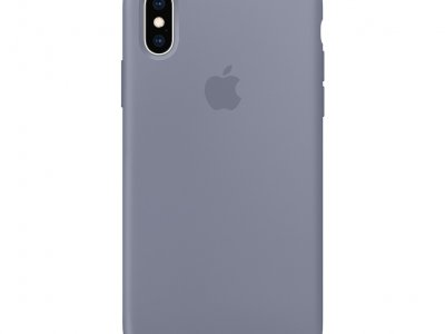 Apple iPhone Xs Silicone Case Lavendelgrijs