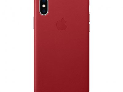 Apple iPhone Xs Max Leather Back Cover RED