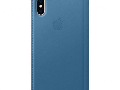 Apple iPhone Xs Leather Folio Book Cape Cod Blauw