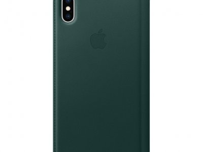 Apple iPhone Xs Max Leather Folio Book Bosgroen