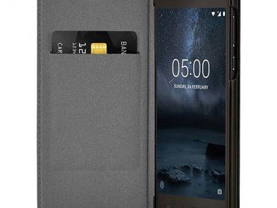 Nokia 5 Slim Flip Book Case Zwart