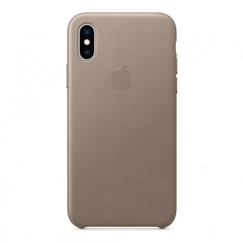 Apple iPhone Xs Leather Back Cover Taupe