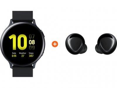 Samsung Galaxy Watch Active2 Zwart 44 mm Aluminium + Galaxy Buds Plus Zwart