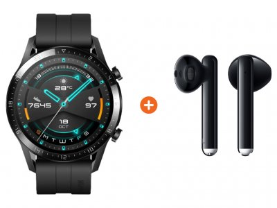Huawei Watch GT 2 Zwart 46mm + Freebuds 3 Zwart