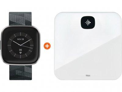 Fitbit Versa 2 Speciale Editie Donkergrijs + Fitbit Aria Air