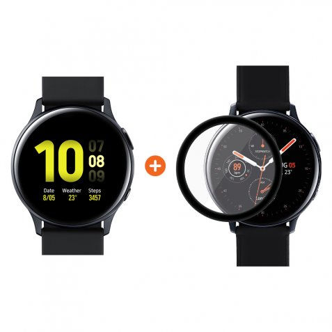 Samsung Galaxy Watch Active2 Zwart 40 mm Aluminium + PanzerGlass Samsung Galaxy Watch Acti