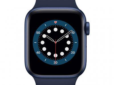 Apple Watch Series 6 40mm Blauw Aluminium Blauwe Sportband