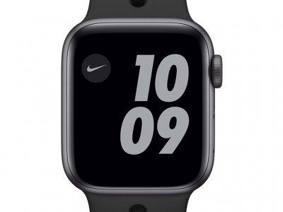 Apple Watch Nike SE 40mm Space Gray Aluminium Zwarte Sportband