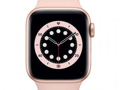 Apple Watch Series 6 40mm Goud Aluminium Roze Sportband