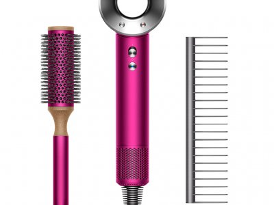 Dyson Supersonic Fuchsia + haarstyling set
