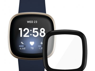 Fitbit Versa 3 Blauw/Goud + PanzerGlass Fitbit Sense