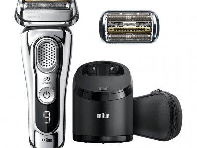 Braun Series 9 9395CC + Braun 92S Scheercassette Silver